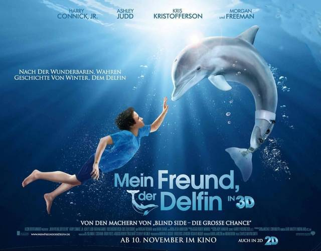 Critique de L'Incroyable Histoire de Winter le Dauphin 2 ...  |Dolphin Tale 2 Sawyer And Hazel Kiss