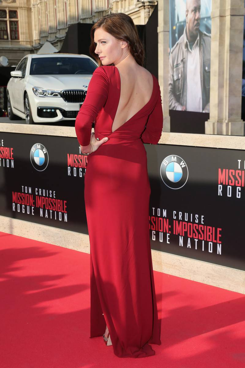 VIENNA, AUSTRIA - JULY 23:  Rebecca Ferguson attends the world premiere of 'Mission: Impossible - Rogue Nation' at the Opera House (Wiener Staatsoper) on July 23, 2015 in Vienna, Austria.  (Photo by Gisela Schober/Getty Images for Paramount Pictures International)