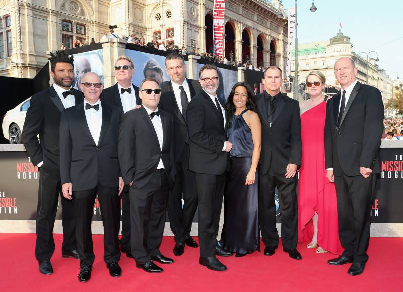VIENNA, AUSTRIA - JULY 23:  Rob Moore (R) and other Paramount executives attend the world premiere of 'Mission: Impossible - Rogue Nation' at the Opera House (Wiener Staatsoper) on July 23, 2015 in Vienna, Austria.  (Photo by Gisela Schober/Getty Images for Paramount Pictures International)