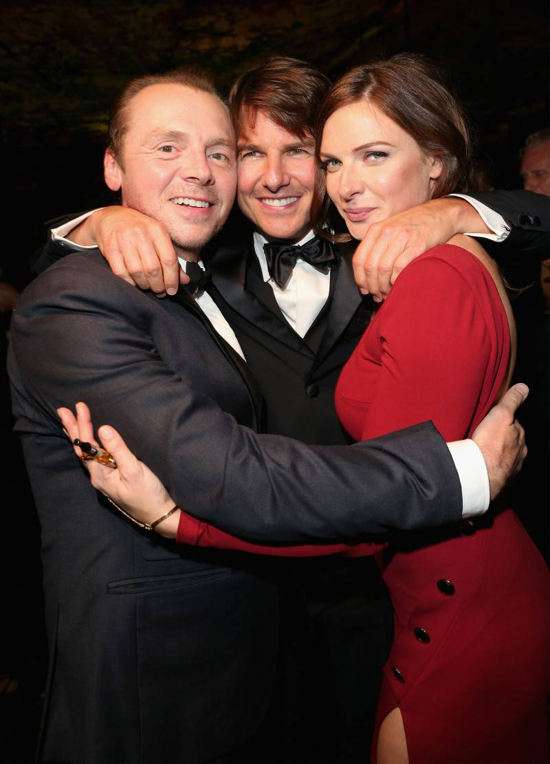 VIENNA, AUSTRIA - JULY 23: (EDITORS NOTE: This image has been digitally manipulated) (L-R) Simon Pegg, Tom Cruise and Rebecca Ferguson attend the afterparty for the world premiere of 'Mission: Impossible - Rogue Nation' at Sofitel Hotel Vienna on July 23, 2015 in Vienna, Austria.  (Photo by Gisela Schober/Getty Images for Paramount Pictures International) *** Local Caption *** Simon Pegg;Tom Cruise;Rebecca Ferguson;Christopher McQuarrie
