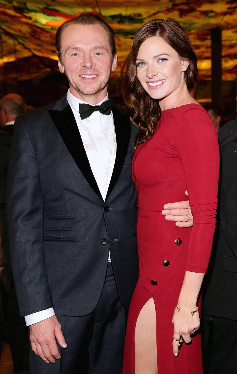 VIENNA, AUSTRIA - JULY 23: (EDITORS NOTE: This image has been digitally manipulated) Simon Pegg and Rebecca Ferguson attend the afterparty for the world premiere of 'Mission: Impossible - Rogue Nation' at Sofitel Hotel Vienna on July 23, 2015 in Vienna, Austria.  (Photo by Gisela Schober/Getty Images for Paramount Pictures International) *** Local Caption *** Simon Pegg;Rebecca Ferguson