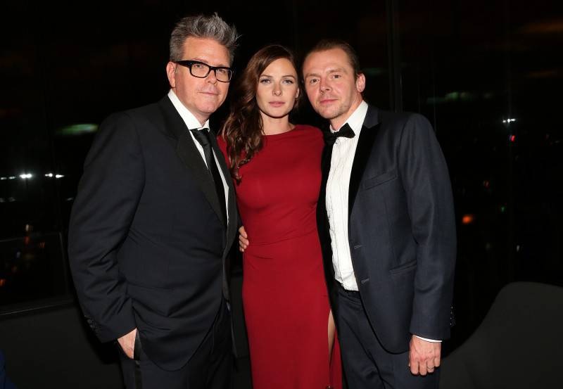 VIENNA, AUSTRIA - JULY 23: Christopher McQuarrie, Rebecca Ferguson and Simon Pegg attend the afterparty for the world premiere of 'Mission: Impossible - Rogue Nation' at Sofitel Hotel Vienna on July 23, 2015 in Vienna, Austria.  (Photo by Gisela Schober/Getty Images for Paramount Pictures International)