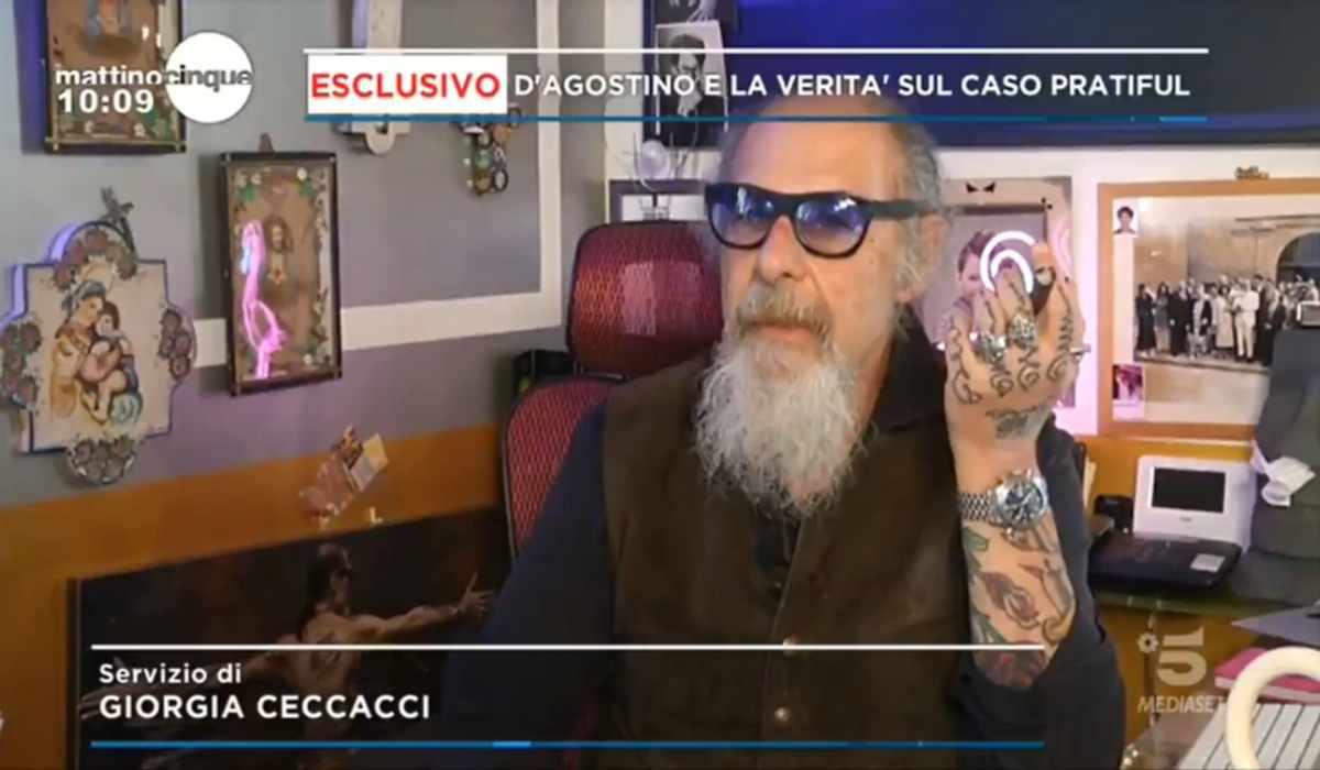 Roberto D'Agostino esclusiva a Mattino 5