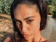 Cecilia Rodriguez in topless per i paparazzi