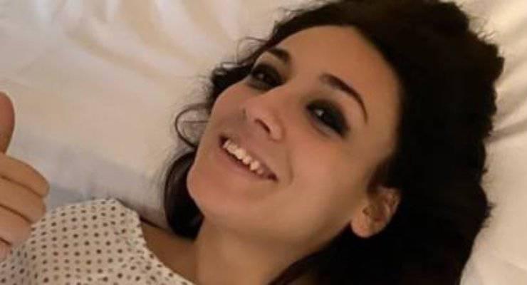 Francesca Manzi, la foto in ospedale