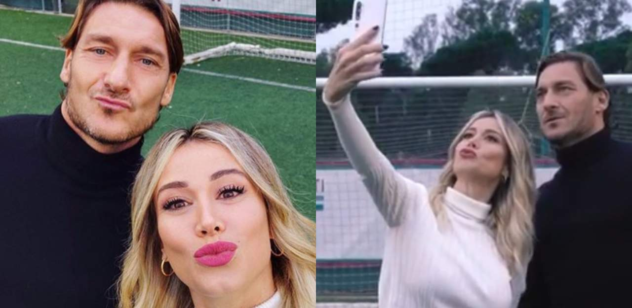 Diletta Leotta e Francesco Totti al bacio