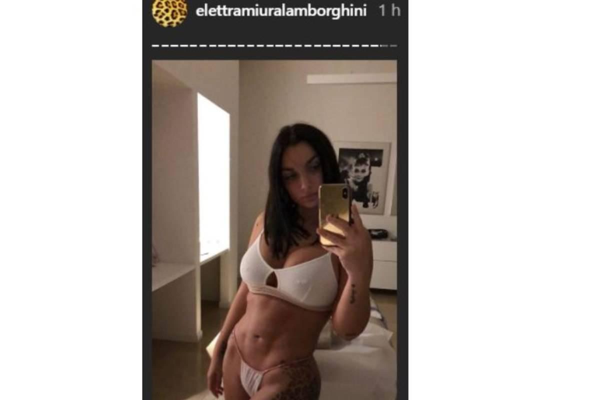elettra lamborghini addominali foto instagram