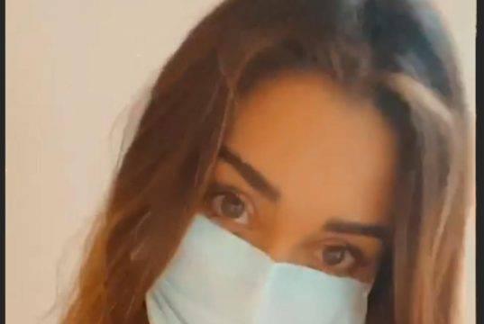 L'allarme Coronavirus colpisce anche Belen? Il video con la mascherina