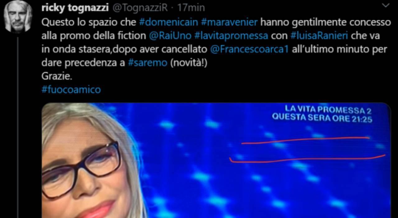 Ricky Tognazzi contro Mara Venier
