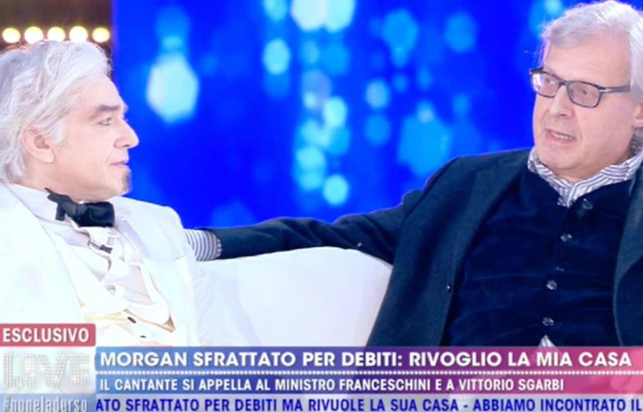 Vittorio Sgarbi difende Morgan, pesanti accuse contro Bugo