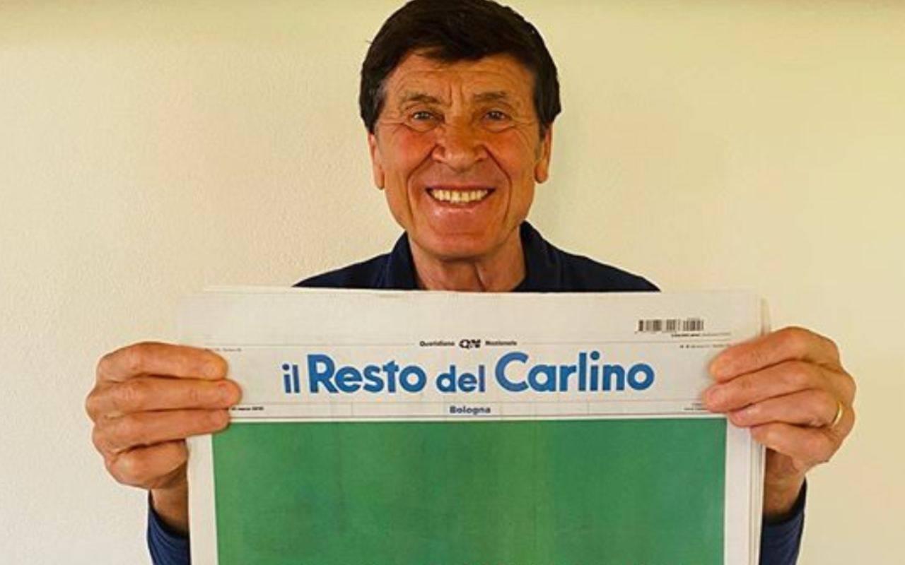 Coronavirus, Gianni Morandi foto con la bandiera: è polemica