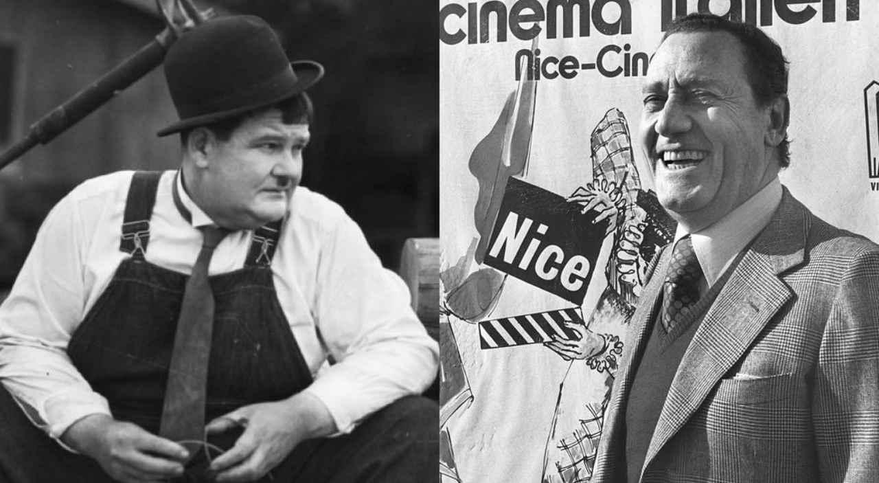 Oliver Hardy e Alberto Sordi