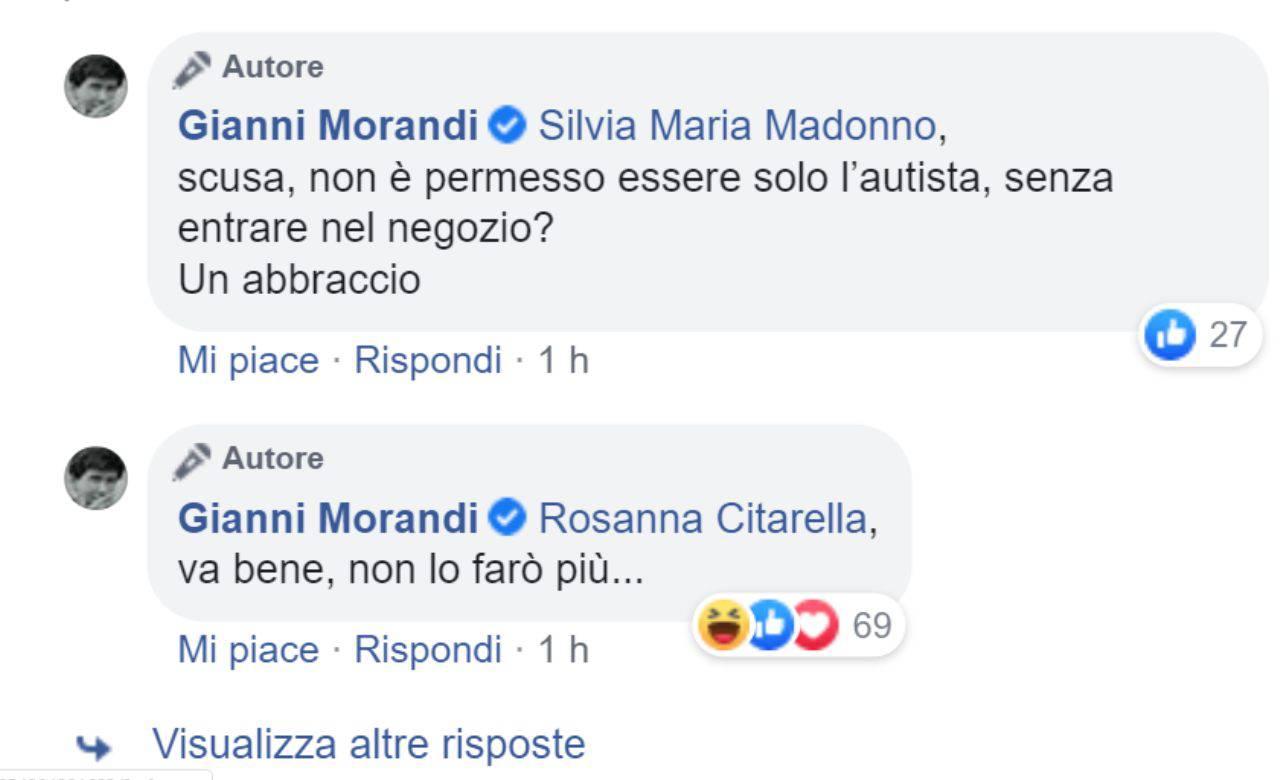 Gianni Morandi uscita in due