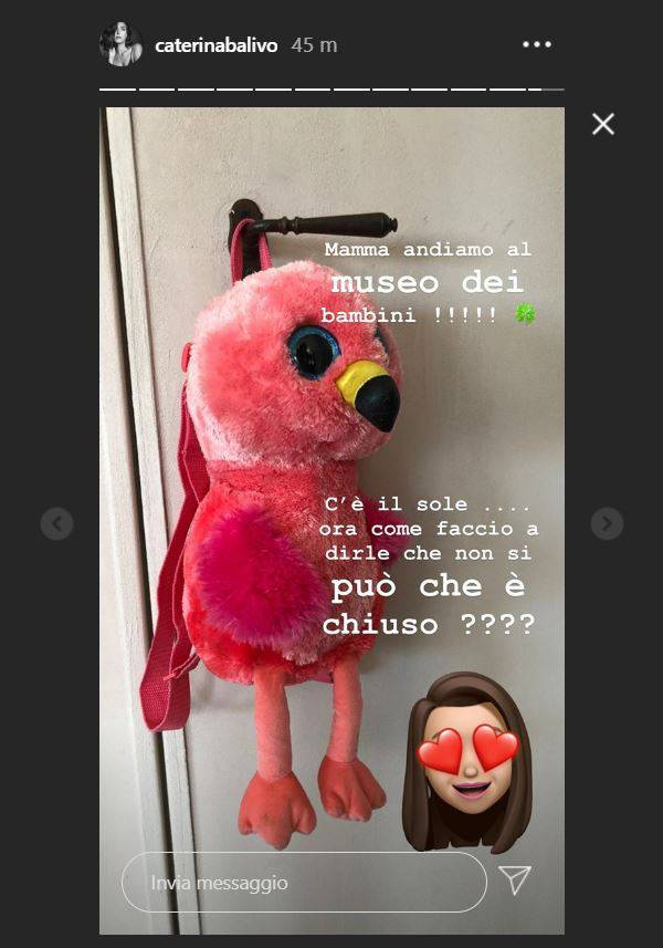 caterina balivo storia instagram