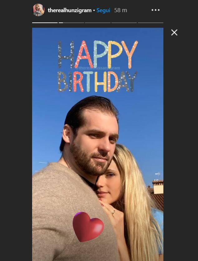 Michelle Hunziker con il marito Trussardi