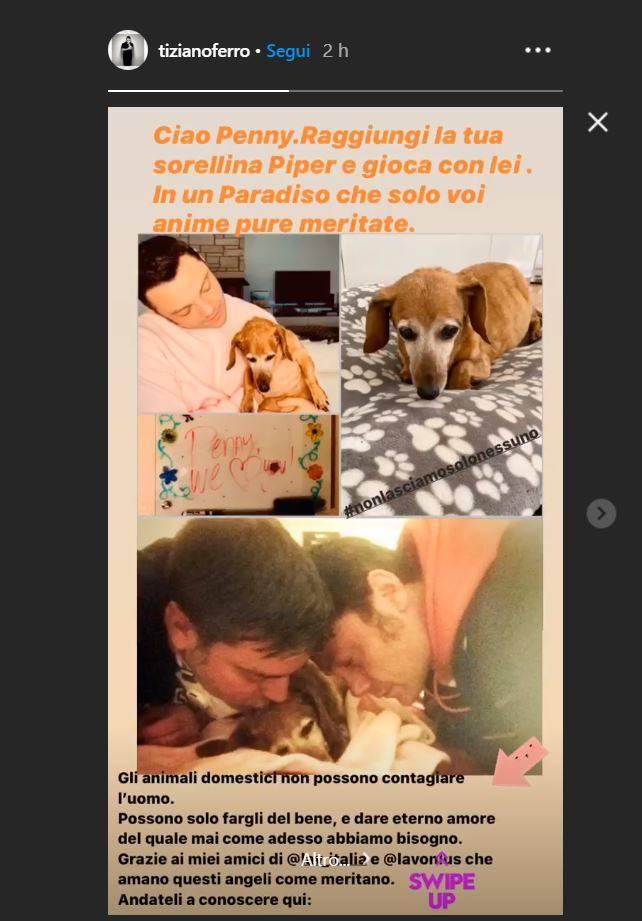 tiziano ferro foto instagram lutto