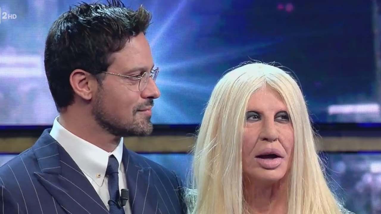 Donatella Versace Virginia Raffaele