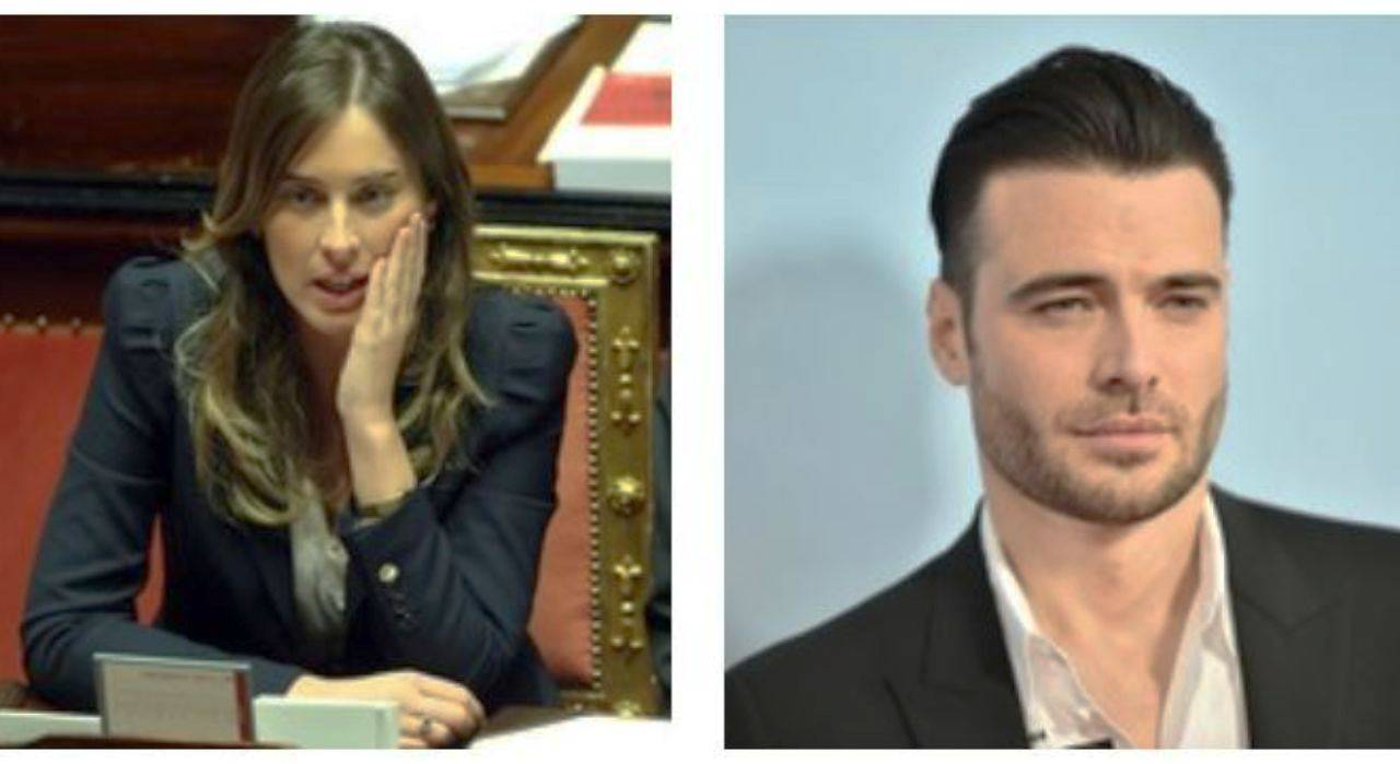 Giulo Berruti e Maria Elena Boschi