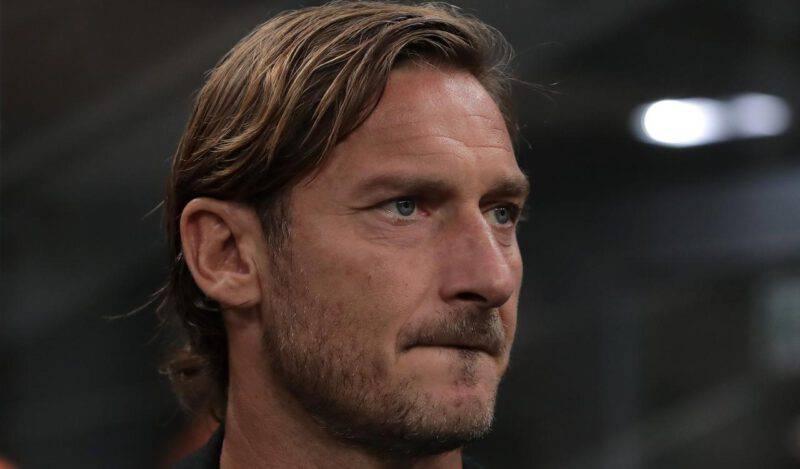Francesco Totti disperato