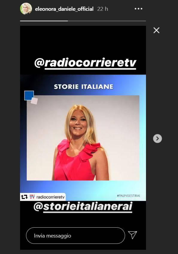 eleonora daniele storie italiane instagram