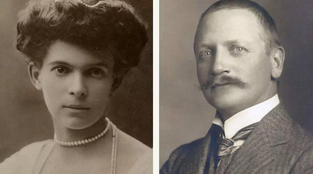 Ottilie Von Faber Castell e il marito Alexander