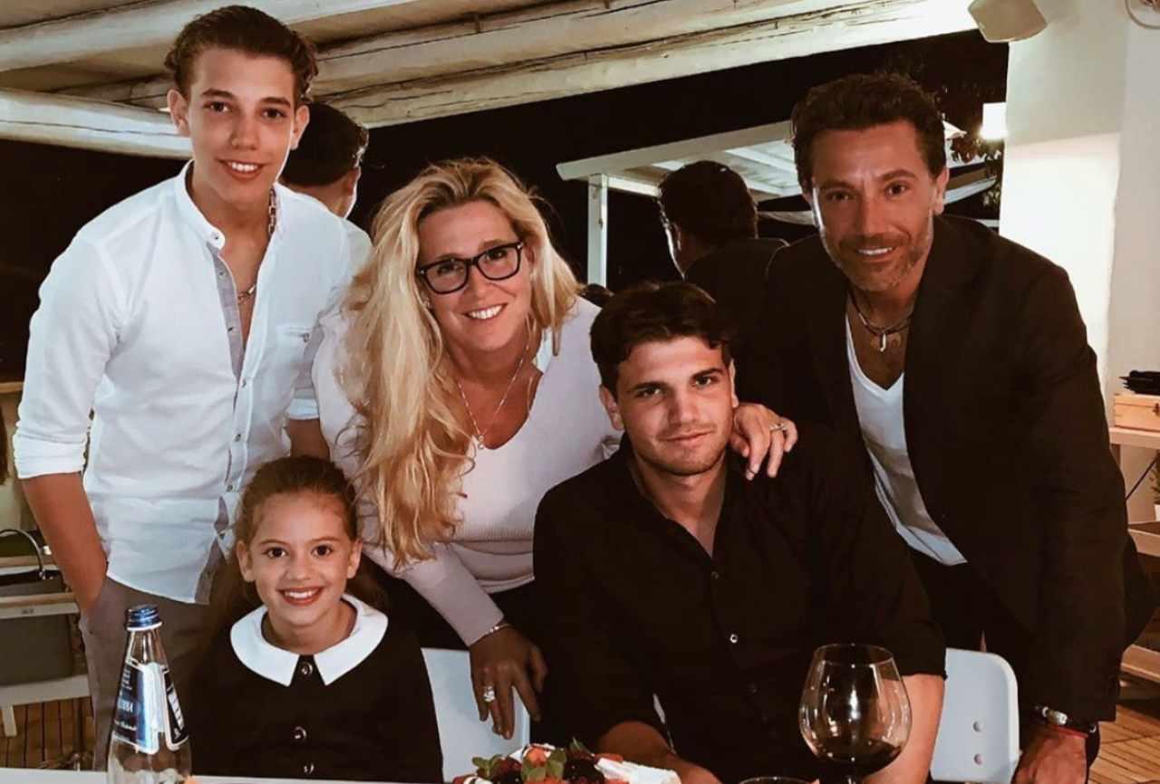 Gino D'Acampo con la famiglia