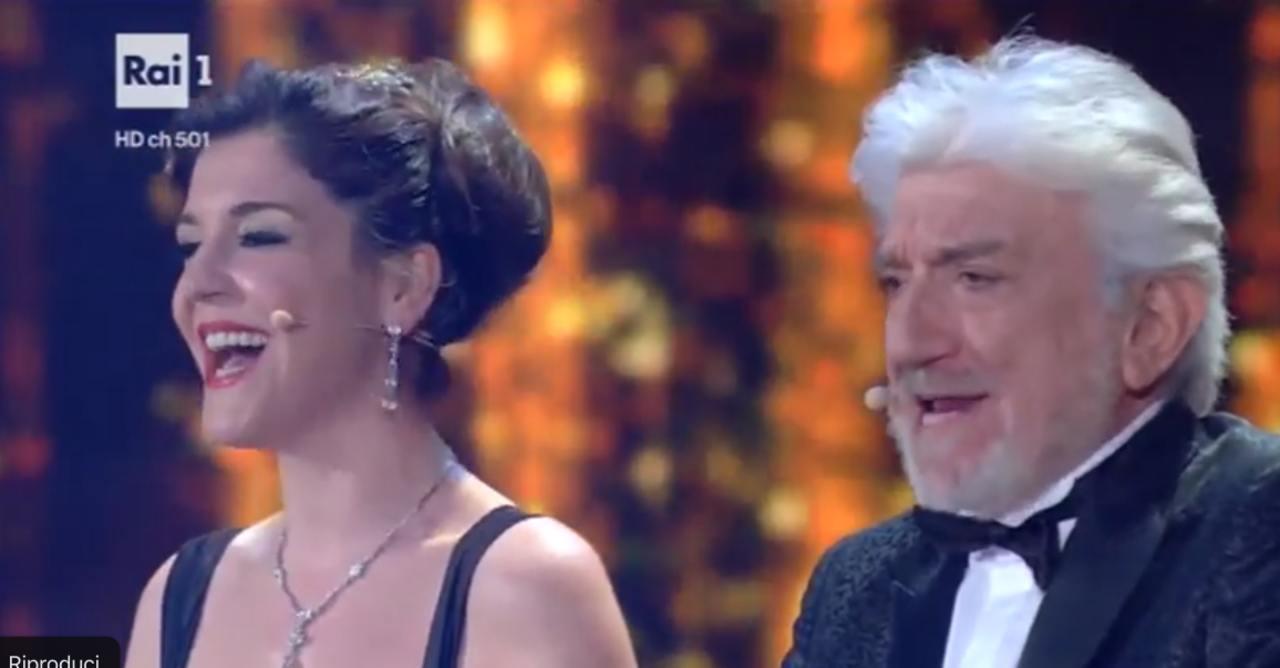 Carlotta Proietti e Gigi Proietti