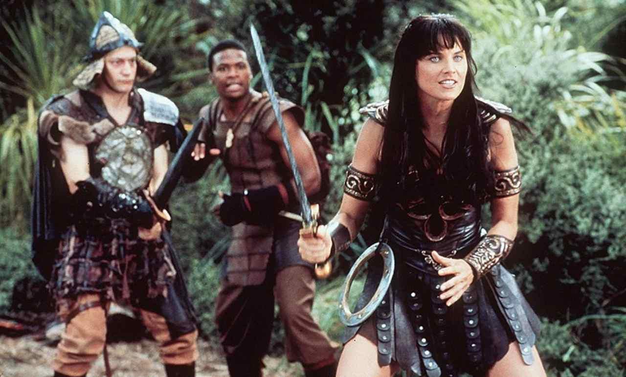 Xena e i suoi aiutanti durante le sue avventure