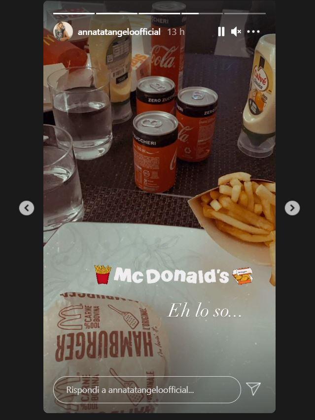 anna tatangelo fast food