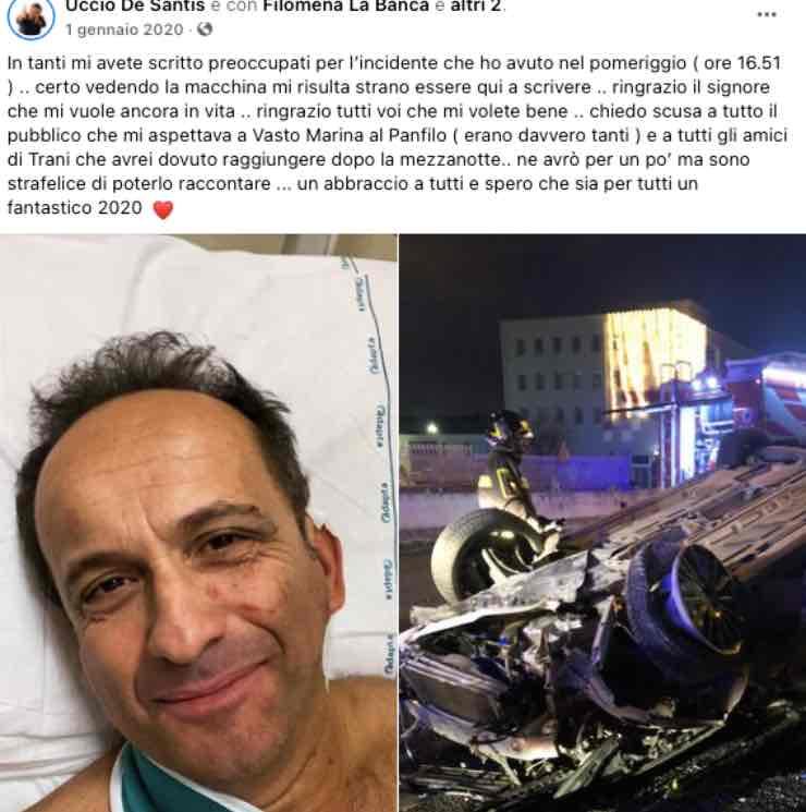 Uccio De Santis, il ricordo di quel drammatico incidente