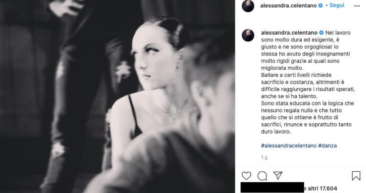 Alessandra Celentano prima, com'era da giovane agli esordi