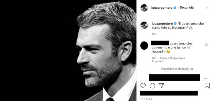 Luca Argentero, foto in bianco e nero: il messaggio colpisce i fan
