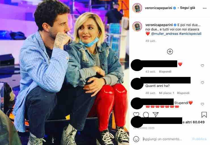 """Veronica Peparini quella dolce dedica per Andreas: """"E poi..."""""""