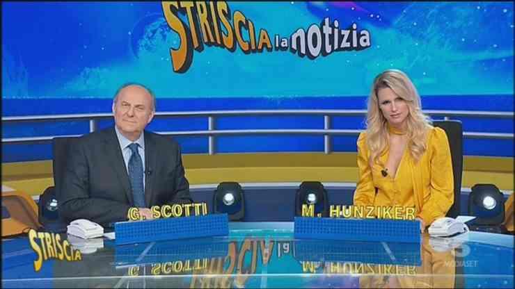 Gerry Scotti e Michelle Hunziker (Mediaset)