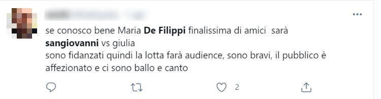 Amici, Maria De Filippi Sangiovanni