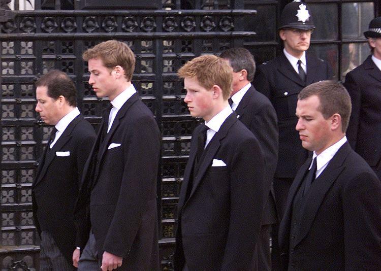 Funerale Principe Filippo Harry, William, Peter Phillips