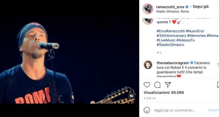 """Aurora Ramazzotti """"tempi meravigliosi"""": emozione, c'entra il papà Eros"""