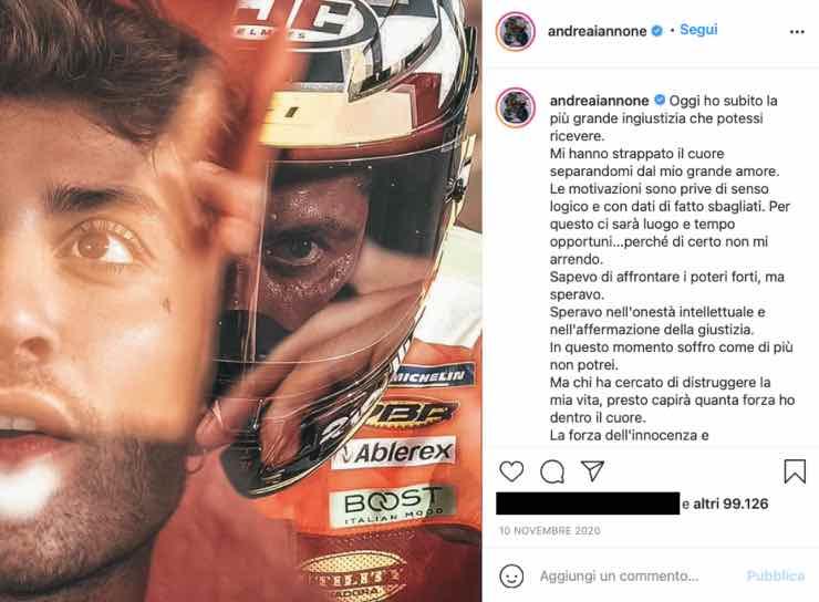 """Andrea Iannone, quello sfogo post squalifica: """"Non mi arrendo"""""""