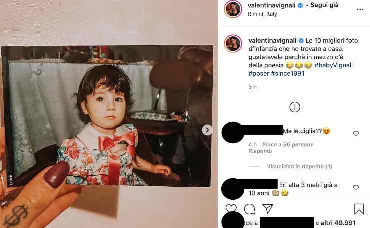 Valentina Vignali, salto nel passato: la top 10 della modella
