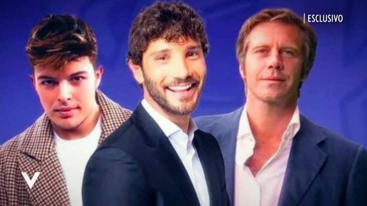 Stefano de Martino, Emanuele Filiberto e Stash (Mediaset)