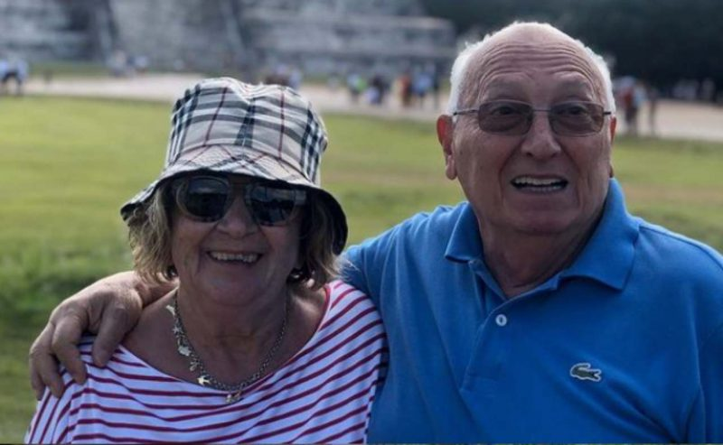 Anna Moroni e il marito Tonino
