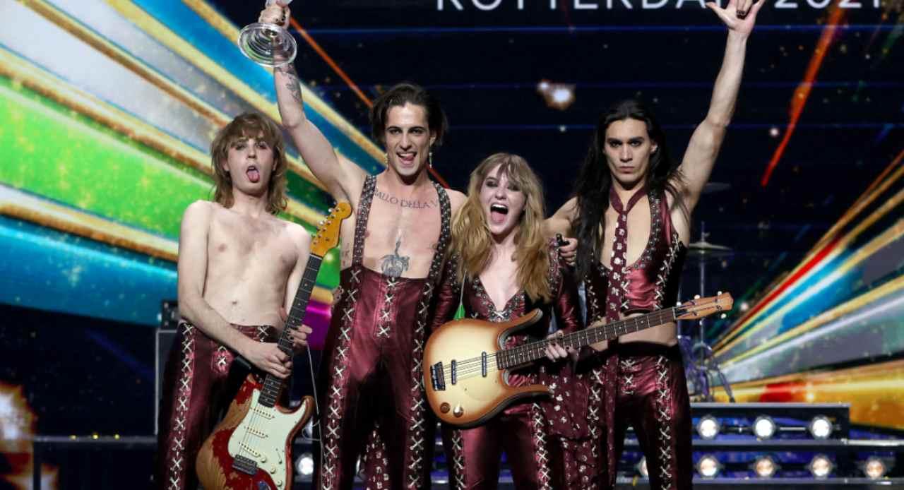 maneskin look eurovision