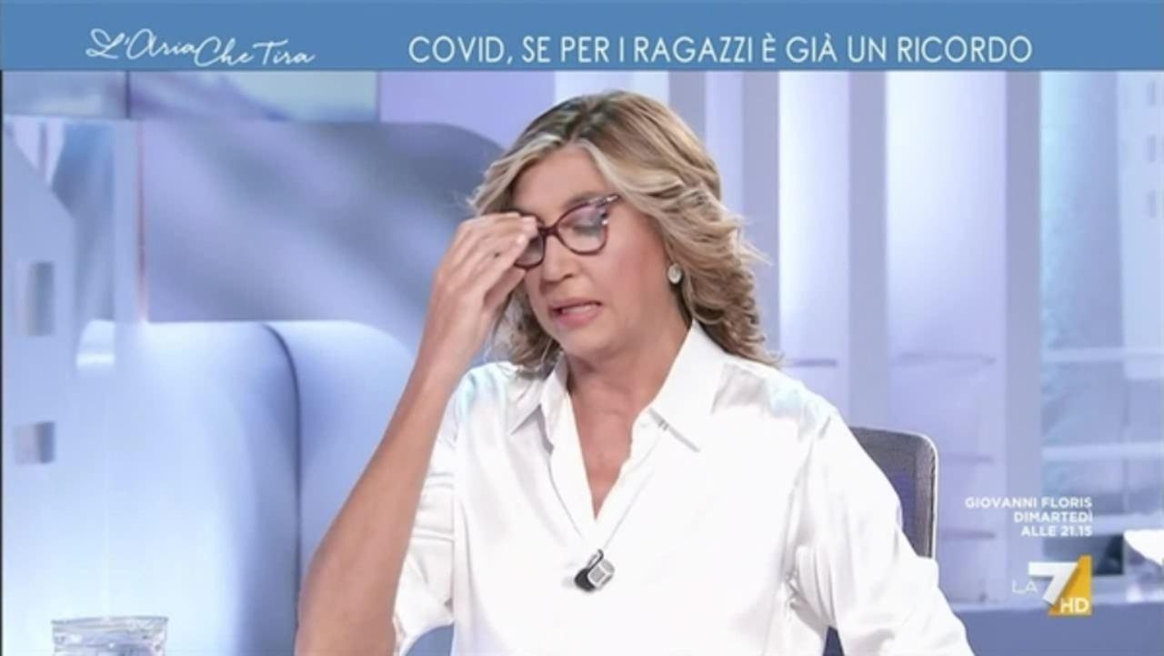 Myrta Merlino La7 L'Aria che tira attacco Mario Draghi