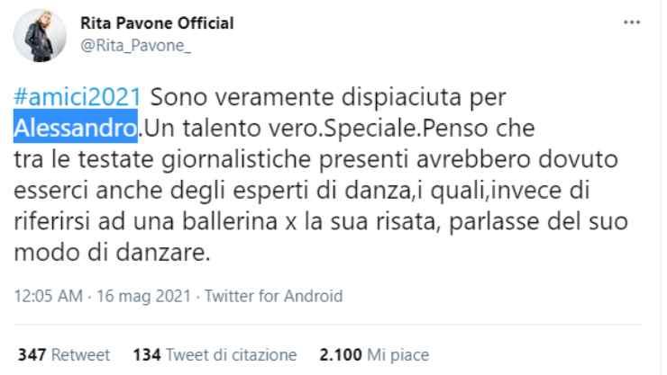 Rita Pavone (Twitter)
