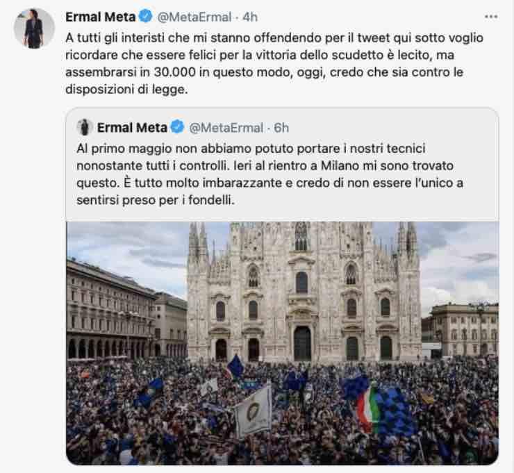 Ermal Meta offeso da alcuni interisti: amarezza e polemica socialErmal Meta offeso da alcuni interisti: amarezza e polemica social