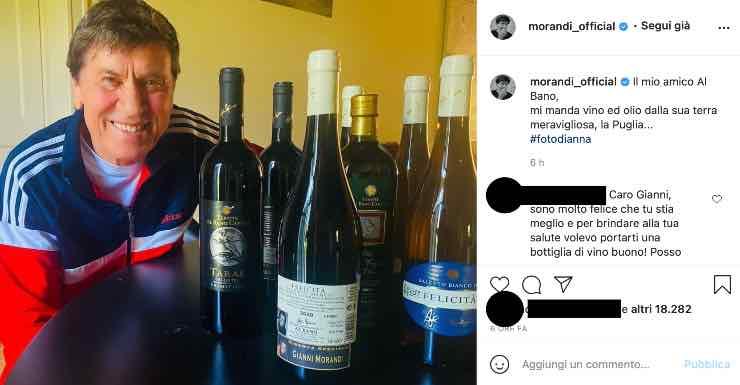 Gianni Morandi, dolce pensiero di Albano: ecco cos'ha fatto di speciale
