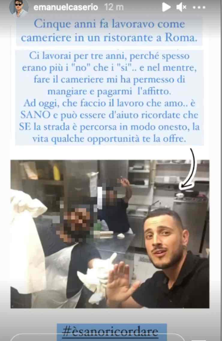 """""""Mangiare e pagarmi l'affitto"""": Emanuel Caserio, il ricordo intenso"""