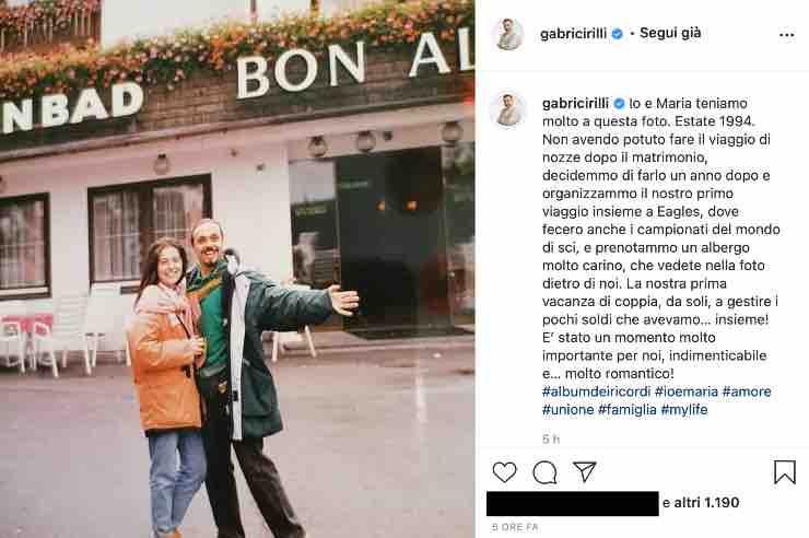 Gabriele Cirilli amarcord: quel dolce retroscena sul matrimonio con Maria