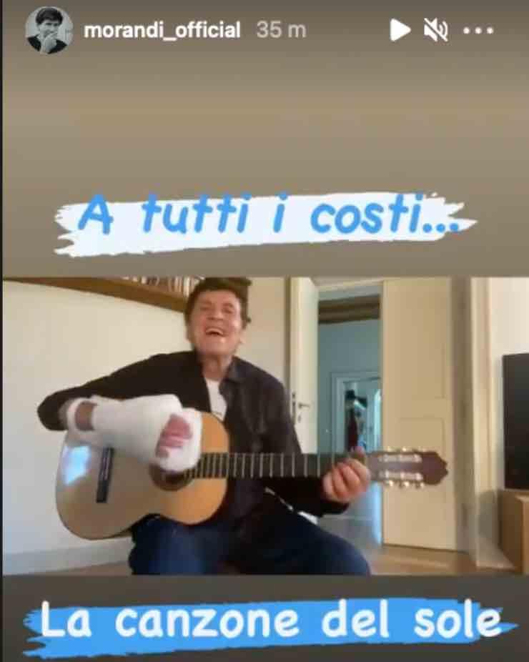 """Gianni Morandi, dopo l'incidente la prima gioia: """"a tutti i costi"""""""