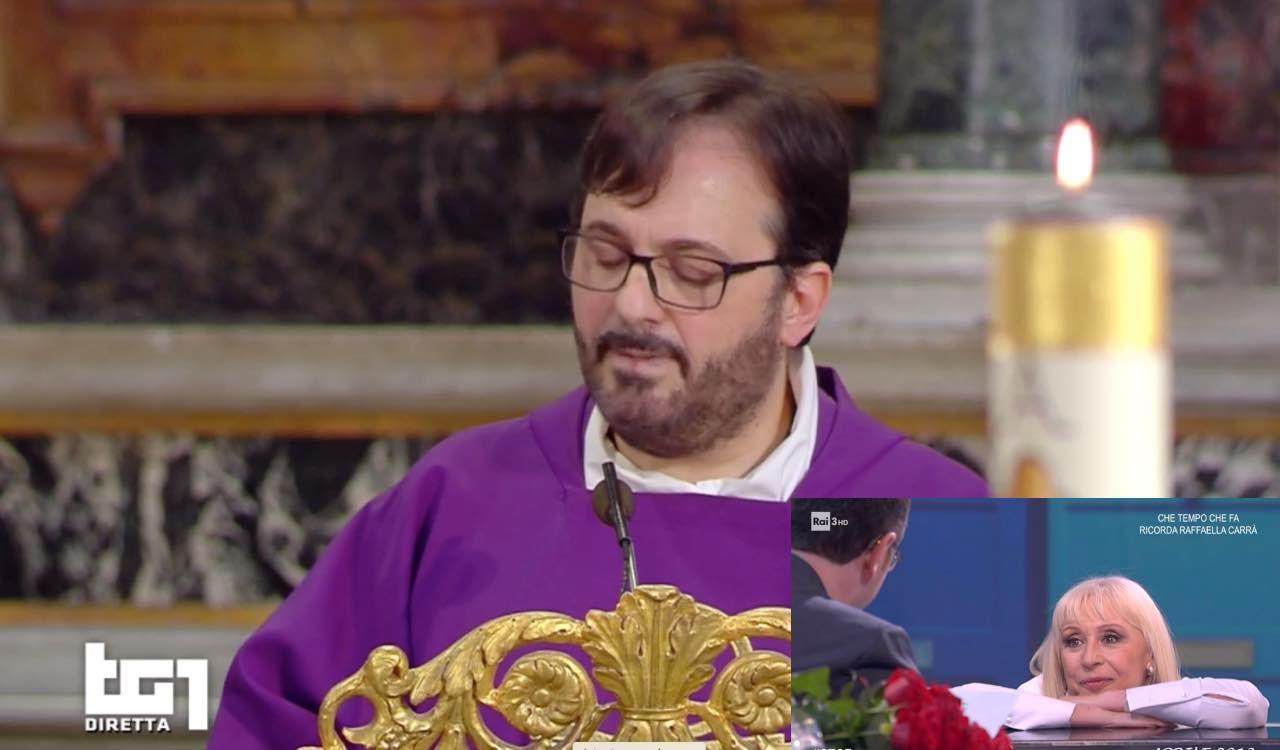 Raffaella Carrà Funerale parroco